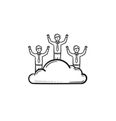 Man dreamer hand drawn sketch icon vector