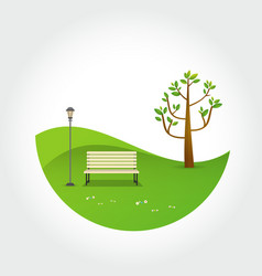 minimal park natural landscape vector image