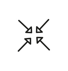 Minimize arrows icon vector