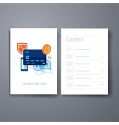Modern online payment solutions flat icon cards vector image