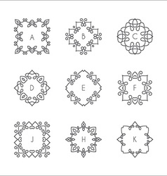 monogram collection vector image