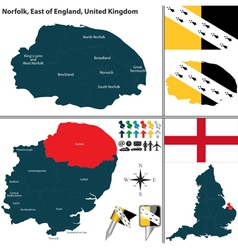 Norfolk East of England vector image