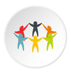 people connecting icon circle vector image
