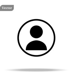 Person icon social icon isolated on white vector