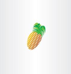 pineapple icon symbol element design vector image