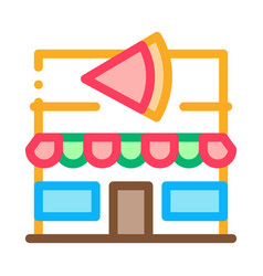 Pizza restaurant icon outline vector