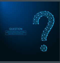 question mark low poly vector image