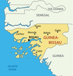 Republic of Guinea-Bissau - map vector image
