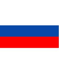 Russia flag icon russian federation button vector