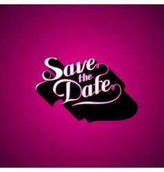 Save the Date retro label vector