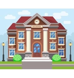 School or university building flat vector image