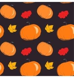 Seamless pattern of yellow autumn vector image