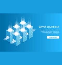 server equipment concept of processing large vector image