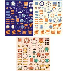 set design elements vector image