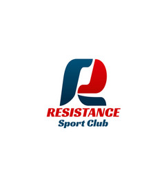 sign for sport club vector image