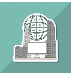 Smart city design editable graphic vector