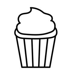 sweet cupcake dessert tasty icon thick line vector image