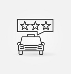 taxi and speech bubble with stars concept vector image