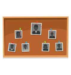team structure chart company members board vector image