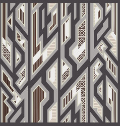 traditional geometric seamless pattern vector image