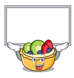 Up board fruit tart character cartoon vector