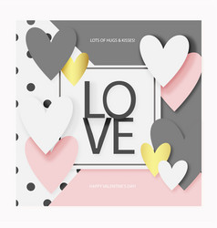 valentine s day love card or greeting card eps 10 vector image