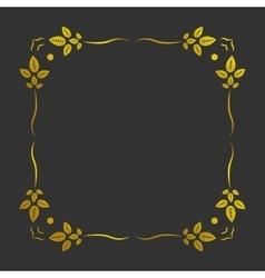 Vintage gold frame vector image