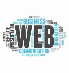 Web informative word cloud concept typography vector