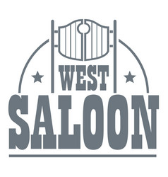 West saloon logo vintage style vector