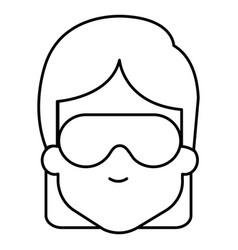 woman with sleeping mask vector image