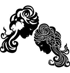 Female head 2 vector image vector image