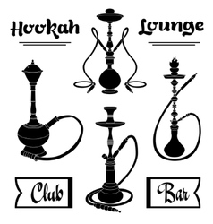hookah labels set vector image