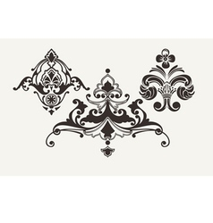 Calligraphic Design Elements For Page Decoration vector image vector image