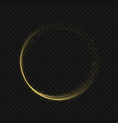 golden fire ring vector image vector image