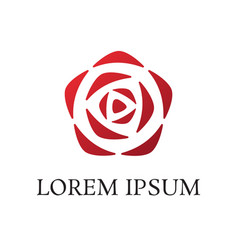 rose logo vector image vector image