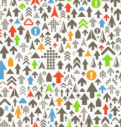 Seamless background of different color arrows vector image vector image