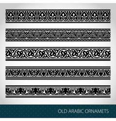 Seamless Islamic borders vector image vector image