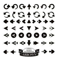 Set of different arrow icons vector image vector image