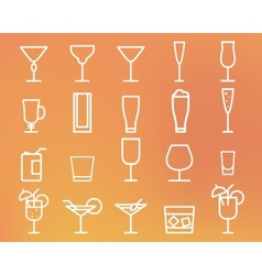 Beverage drinks thin line symbol icon vector image