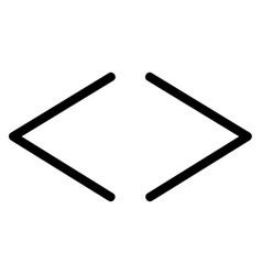 code coding html tag icon vector image