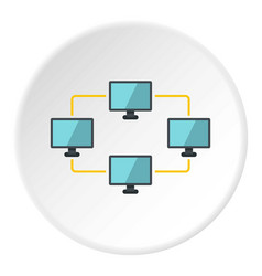 exchange of data between computers icon circle vector image vector image