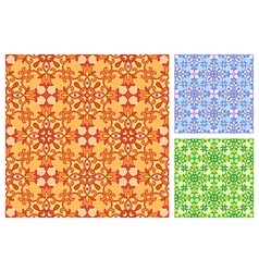 Seamless floral pattern in different color schemes vector image vector image