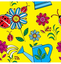 summer floral print pattern vector image