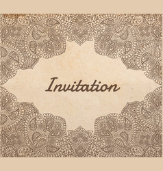 vintage old paper texture with traditional asian vector image vector image