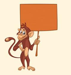 cute cartoon chempanzee vector image
