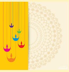 diwali utsav greeting or poster card vector image vector image