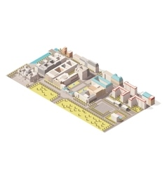 Isometric Berlin map vector image
