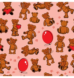 seamless bears color 380 vector image vector image
