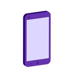 smartphone symbol flat isometric icon or logo 3d vector image