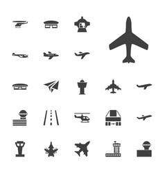 22 aircraft icons vector